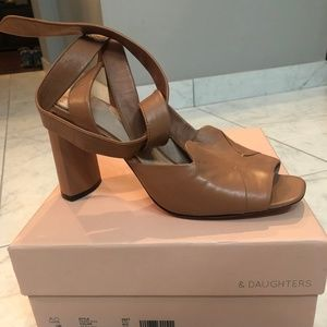AD & Daughters Francess Tie Ankle Sandals